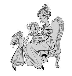 early frozen art of elsa's mother by Jin Kim... - young animators blog XD