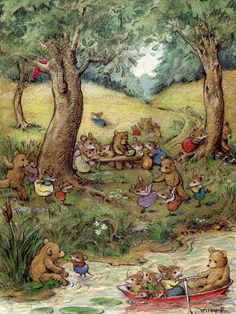 Bear Picnic, Note Card 15 by Wee Forest Folk at The Toy Shoppe