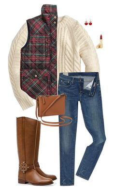 """""""Christmas Afternoon-Set 12 Example Sets"""" by sc-prep-girl ❤ liked on Polyvore featuring J.Crew, Polo Ralph Lauren, Tory Burch, Mixit, Estée Lauder, Old Navy and twelvedaysofchristmas2k15"""