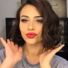 Faux Bob Tutorial @thehairexpert_au paired with a stunning red lip #vegas_nay