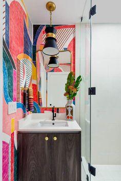 Contemporary Home Decor, Modern Interior Design, Bathroom Styling, Bathroom Inspo, Design Bathroom, Bath Design, Bathroom Ideas, Miami Houses, Home Decor Colors