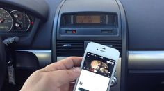 http://www.iPhoneFmTransmitter.com How to connect iphone4s to any car radio.  Play Music, Podcast, Pandora, Youtube, in your car from your iPhone 4s.  If you drive an older car, you may wish you have the handsfree that features on the newer cars or may be your in-car Bluetooth just didn't cut it? This iPhone FM Transmitter works right out of the box, takes