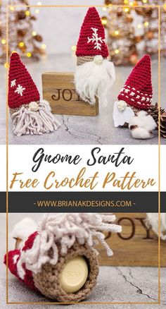 Great Pics how to crochet a sphere Suggestions Cute Gnome Santa Gift Ornament Free Crochet Pattern. If you need a quick teacher, friend, or neighb Crochet Christmas Decorations, Crochet Christmas Ornaments, Holiday Crochet, Christmas Knitting, Crochet Gifts, Diy Crochet, Crochet Dolls, Christmas Crafts, Free Christmas Crochet Patterns