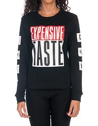 CUPCAKE MAFIA Expensive Taste French terry pullover sweatshirt Long sleeves CUPCAKE MAFIA logo branding detail Inner terry lining for ultimate comfort Cupcake Mafia, Urban Fashion Trends, Women's Fashion, Fashion Advice, Fashion Hacks, T Shirts With Sayings, Plus Size Women, Stylish Outfits, Expensive Taste