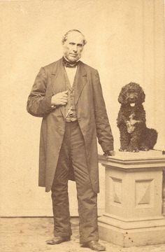 Daniel Emery Pratt of Massachusetts with his Portuguese Water Dog