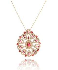 colar de luxo rubi com pedras cristais folheado a ouro semi joias da moda