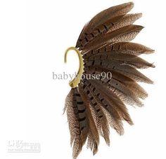 Feather Ear Cuff Earrings