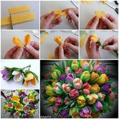 Tulipanes flower paper