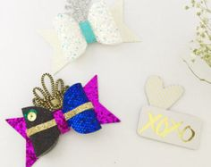 Princess Belle bow hair clip Disney princess by Bellainspirationd