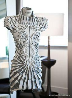 ℘ Paper Dress Prettiness ℘ art dress made of paper -