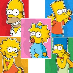The Simpsons Family 5 Piece Graphic Art on Canvas Set