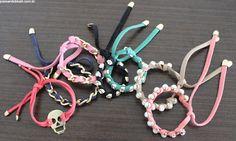 Como fazer: pulseiras de courinho | Passando Blush