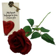 Experience the romance in the air and make your beloved treasure it forever. Gift her/him a gift hamper of 3x6 inch love quote table top memento along with long stem artificial rose. http://www.fnp.com/valentine/