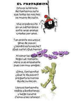"Spanish Halloween poem for kids: ""El fantasma."" poems for kids Spanish Lessons For Kids, Learning Spanish For Kids, Spanish Basics, Spanish Lesson Plans, Teaching Spanish, Learn Spanish Online, Spanish Help, Halloween Poems For Kids, Halloween Stuff"