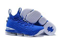9e3910f779963c 2018 Nike LeBron XV EP 15 Mens Basketball Shoes Royal Blue White Nike  Shoes