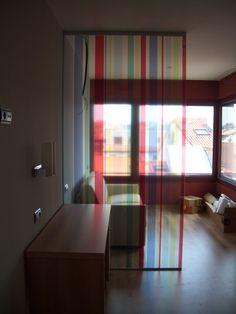 Impresión Decorativa en mamparas de vidrio. Trabajo de Rótulos Bia.
