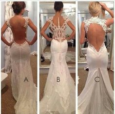Beautiful, Beautiful n Beautiful fitted and flared a- backless short cap sleeves or thick strapped b- lace detailing from short cap sleeves and along back c- large keyhole leading into deep v-cut waist