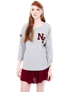 :SWEATSHIRT WITH PATCH DETAIL