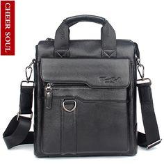 38.53$  Buy here - 2016 New Hot Genuine Leather Men Bag Cowhide Shoulder Fashion Men Messenger Bags Crossbody Bags Handbags Black Men's Travel Bag   #aliexpresschina