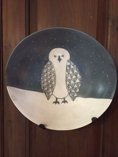 Take a look at this bowl by master potter Melissa Greene from Deer Isle, Maine. I am so thrilled with it. I'm calling it Starry Night Owl and it is hovering over my desk.