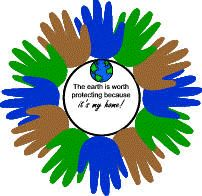 Earth Day. Handprints cut out OR done in paint. One handprint per child in the class.