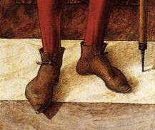 Detail - Crivelli-St Roch c. 1493 Panel, 40 x 12 cm Wallace Collection, London