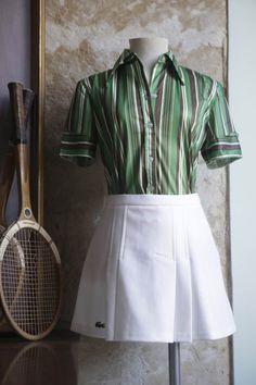 $20  falda tenis lacoste años 70. via Bahía, confecciones, recuerdos y puestas de sol.. Click on the image to see more!