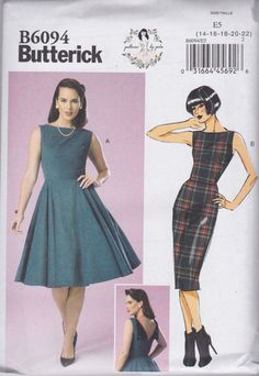 Butterick 6094 Patterns by Gertie 50s Dress Vintage Style Retro B6094 Goodwood