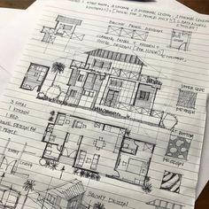 No automatic alt text available. Section Drawing Architecture, Architecture Design Concept, Interior Architecture Drawing, Architecture Building Design, Concrete Architecture, Architecture Sketchbook, Interior Design Sketches, Architecture Details, House Architecture