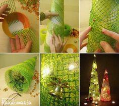 Arbol de navidad hecho en casa