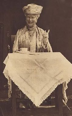 Tea makes us all happy! ~ Queen Mary c.1910