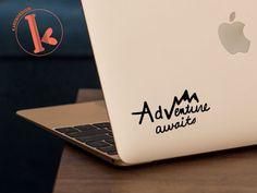 Adventure Awaits Vinyl Decal Sticker - laptop stickers - DIY quote - car decal, laptop decal, car sticker, laptop sticker, mirror decal by KareAndDesign on Etsy https://www.etsy.com/listing/253669143/adventure-awaits-vinyl-decal-sticker