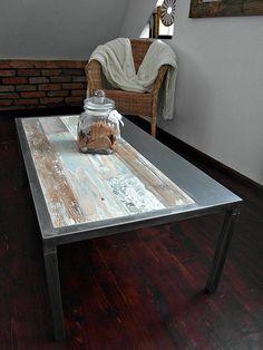 Mano a mano reciclada mesa de centro madera y por DesignInFocus
