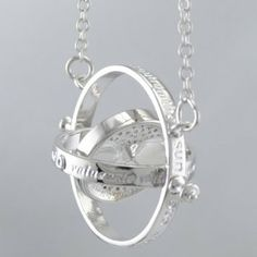 Amazon.com: Ethan Collection Brand New 18k White Gold Plated Harry Potter Time Turner Necklace Hermione Granger Glass: Everything Else