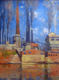 1920. Arthur Henry Knighton-Hammond (1875-1970). Oil on canvas. Courtesy of the Henry H. and Grace A. Dow Foundation.