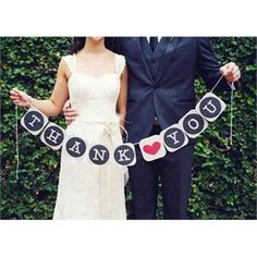 Free Shipping THANK YOU Wedding Banner/Photo Booth Props Photobooth For Wedding…