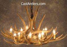 Deer Chandeliers - Mule Deer 9 Cast Antler Chandelier   Rustic Lighting and Decor from CastAntlers