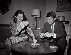 1949. JFK and his sister Eunice (Kennedy Shriver)