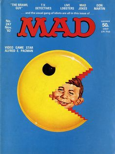 Mad Magazine 247 #gaming #pacman #satire #mad #magazine #80s