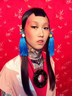HK Marie Claire magazine oriental style makeup by me hair by CliffCK