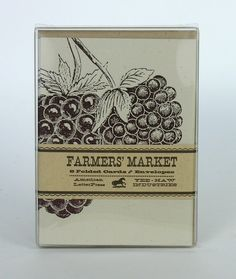 BLACKBERRY GREETING CARDS Farmers Market by PioneerHouse on Etsy, $15.00