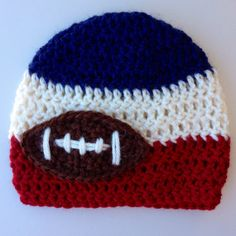 a0ec3e46514 Football Beanie New England Patriots Vintage by LapofLuxury