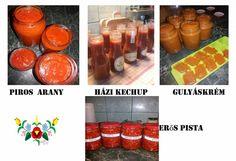 Otthon elkészíthető ízek Boros Valériától... - Nsppress.hu Ketchup, Pesto, Vegetables, Canning, Red Peppers, Vegetable Recipes, Veggie Food, Veggies