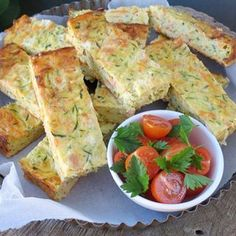 Zucchini Slice- Great way to get the kids to eat their vegetables. Can be frozen, you just need to reheat in the oven. Perfect for the kids lunch boxes. Egg Recipes, Cooking Recipes, Savoury Recipes, Vegetarian Recipes, Cooking Bacon, Quiche Recipes, Healthy Recipes, Lemon Recipes, Salads
