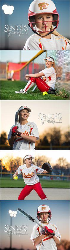 Night Game: Softball senior picture ideas for girls #softballseniorpictureideas #softballseniorpictures #seniorsbyphotojeania