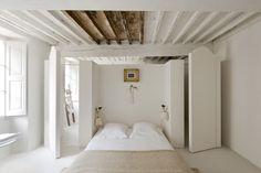 bedroom.  Love the idea with the doors