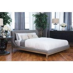 Shop for Elements Fine Home Furnishings Heather Fabric Vintage Panel Bed. Get free shipping at Overstock.com - Your Online Furniture Outlet Store! Get 5% in rewards with Club O!