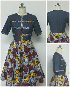 Collection DENWAX. Jean imprimé africain sadapter & Flare