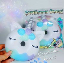 Kawaii BunnysCafe Shimmery Soft Unicorn Donut Squishy GALAXY SILVER