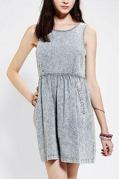 BDG Denim Stripe Babydoll Dress
